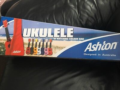 ashton ukulele in box