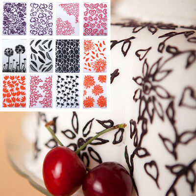 1F79 Kitchen Food Multicolor Fondant Cakes Bump Card Rugged Card Mold Template