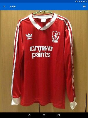 335b1f4a2 Adidas Liverpool crown paints 1987-1988 Home Retro Shirt Long Sleeve Version