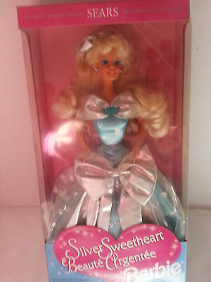 sears exclusive limited edition silver sweetheart barbie doll
