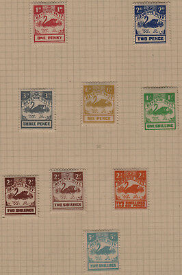 WESTERN AUSTRALIA REVENUE DUTY Lot of 9 STAMPS to 5/ MH