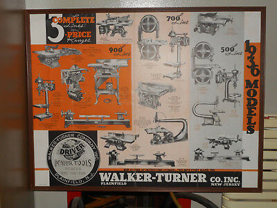 1936 Walker Turner Advertising Poster - Price Reduced