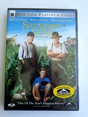 Secondhand Lions DVD Region 1 Made in Canada 2003 Brand New Sealed