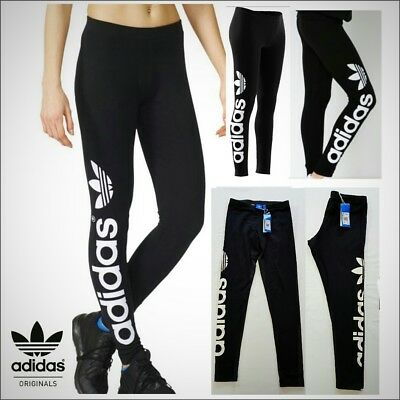 performance sportswear outlet low cost WOMEN LADIES ADIDAS Originals Linear Cotton Leggings Size 8 ...