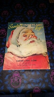 VTG 1954 Santa's Wonderland of Toys Carter's Dept Store N.Y. Christmas Catalog