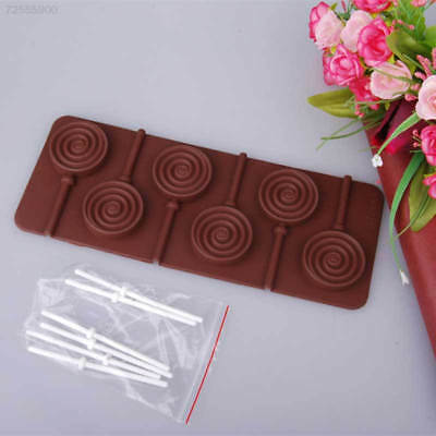 4EB4 Hard 3D Silicone Candy Lollipop Chocolate Cake Decoration Kitchen Mould