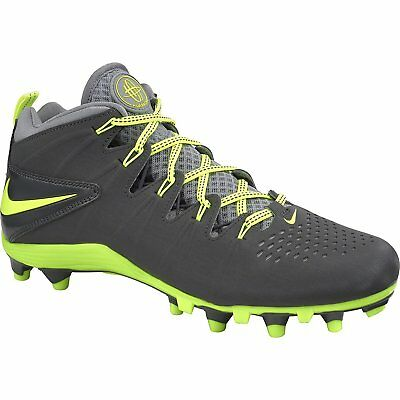 Mens Nike Huarache 4 Lax Anthracite Volt Stealth Football Cleat Shoe Size 12
