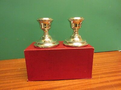 Pair of solid silver dwarf candlesticks