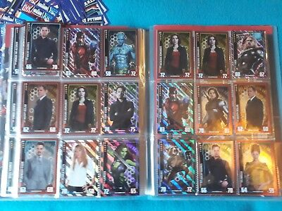 Topps Marvel Missions - MIRROR FOIL Trading Cards AVENGERS