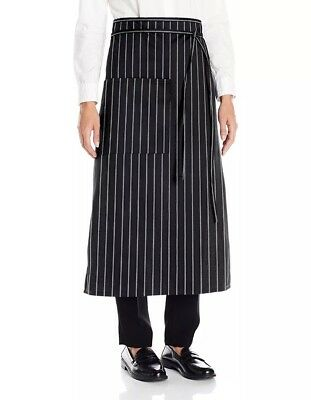 Uncommon Threads Unisex Bistro Apron One Pocket, Chalk Stripe, One Size