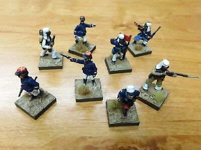 8 x Well Painted 28mm French Foreign Legion Officers and Command Staff