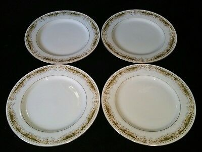 """(4) Signature Collection Queen Anne 7.75"""" Salad Lunch Plates Fine China 7-3/4"""""""