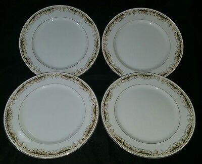 """Set of 4 Signature Collection Queen Anne 10.25"""" Dinner Plates Fine China 10-1/4"""""""