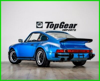 1977 Porsche 911 Blue Leather 1977 Porsche Turbo Carrera Rare Minerva Blue over Blue Leather
