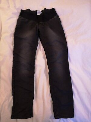 ASOS Maternity Jeans Size 10s short size 10 black faded style / dark grey. vgc.
