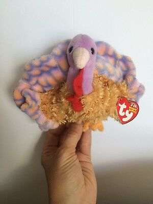 Ty Beanie Babies *Tommy* 2002 Stuff Animal Plushy Collectable Turkey Very Good