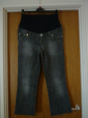 H&M MAMA maternity pants jeans black size M, shortened, used condition