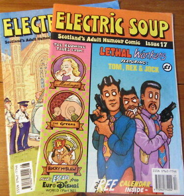 ELECTRIC SOUP magazine - Adult humour!  8th & 17th issues
