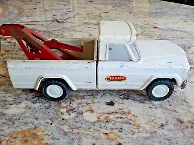 1960s Tonka Pickup Tow Truck Pressed Steel Jeep Vintage Wrecker