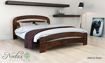 *NODAX* Wooden Pine Double Size Bed 4ft6in Wooden Bed frame&Slats'F10'_COLOURS