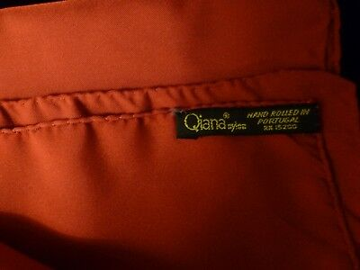 Red Pocket Handkerchief 18x18 in. / Has hand rolled edges Qiana Nylon / Preowned