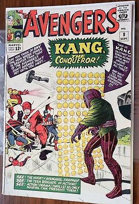 Avengers #8 (1964, Marvel) 1st Appearance of Kang the Conqueror