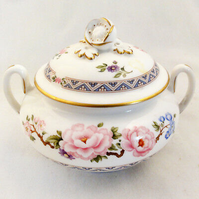 "MIKADO by Royal Worcester Covered Sugar Bowl 3.75"" NEW NEVER USED made England"