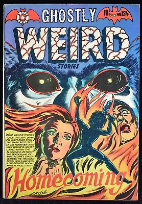 1954 Ghostly Weird Stories #124 LB Cole Cover Comic Book FN+ 6.5