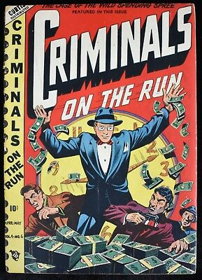 1949 Criminals On The Run Vol.4 #6 Curtis LB Cole Cover Comic Book Good+