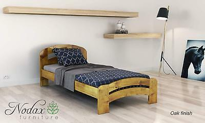 *NODAX*Wooden Pine Single Size Bed 3ft Wooden Bed frame&Slats'F10'_COLOURS