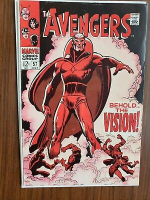 The Avengers #57 (Oct 1968, Marvel) Behold The Vision