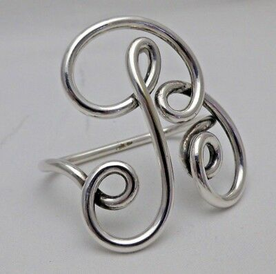 """Antique Silver Plate Napkin Ring in form of """"B"""" Great Gift for a Baby"""