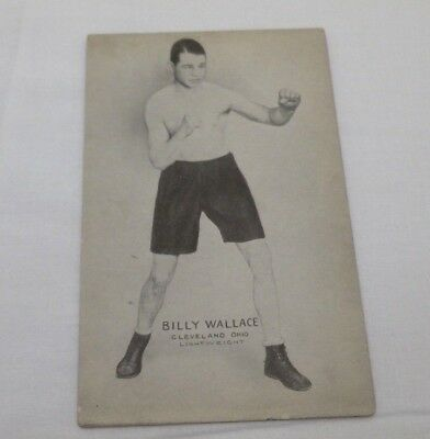 Genuine Vintage 1930's Boxing Postcard Billy Wallace Cleveland Ohio Lightweight