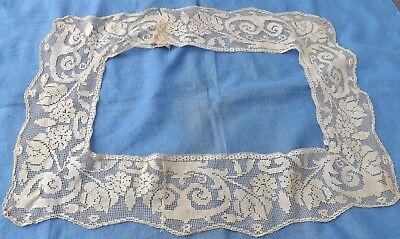 """Antique Filet Lace Lace Trim Edging Salvage Craft Sewing Dolls Collage 41"""""""