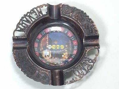 Vintage Reno Nevada roulette wheel ashtray