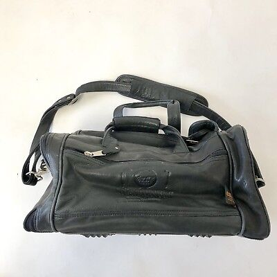 Coca Cola Tiger Woods Canyon Outback Leather Travel Bag Multi Pocket Rare