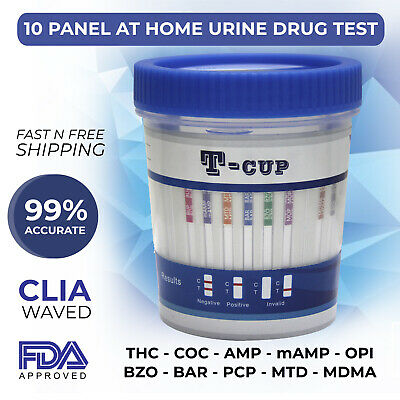 10 Panel T Cup Urine Analysis Drug Cup Clia Waved Multi Drugs Of Abuse