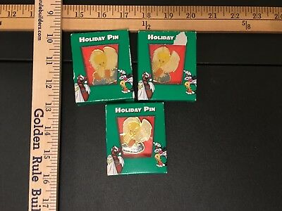 Lot of 3 Tweety Bird Holiday Pins Still In Package