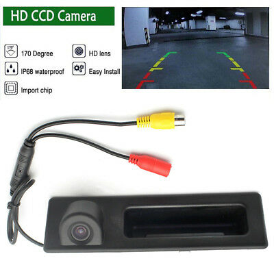 HD CCD Reversing Backup Rear View Handle Cover Parking Camera For BMW F30 F34