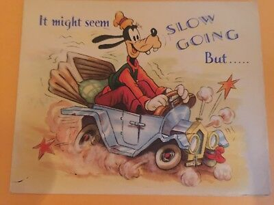 Disney Goofy Vintage Get Well Card Valentine's Greeting Cards Co. Great Britain