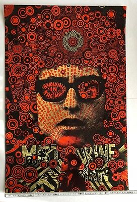 Martin Sharp Poster Blowing In The Mind. Mister Tambourine Man [Bob Dylan] 1967