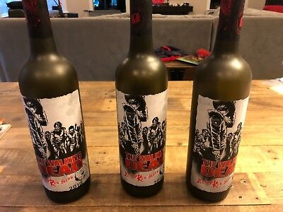 Empty Walking Dead BLOOD RED BLEND Collectible Wine Bottle TWD Rick Grimes Daryl