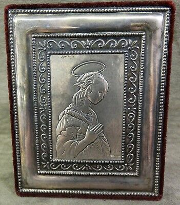 Sterling Silver Madonna Religious Plaque