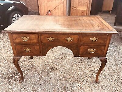 Lovely Vintage Burr Walnut Writing Desk