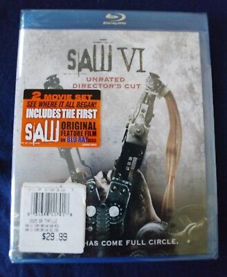 Saw VI (Blu-ray, Unrated Director's Cut) NEW! Costas Mandylor, Tobin Bell