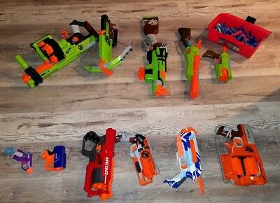 Lot of 11 Nerf Guns