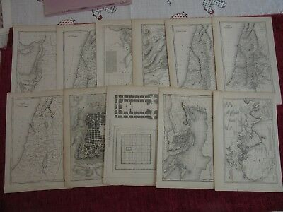 1833/34 History Of The Jews In The Holy Land (11) Maps Original Collection  fc57