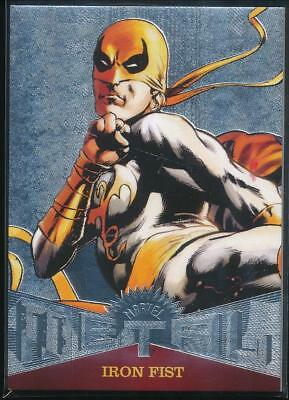 2017 Fleer Ultra Spider-Man Marvel Metal Trading Card #MM13 Iron Fist