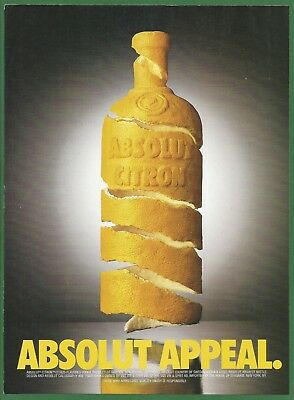 ABSOLUT CITRON Citrus-Flavored Vodka - Absolut Appeal - 2001 Print Ad