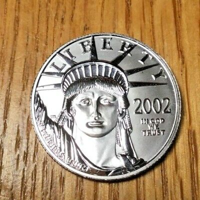 2002 Platinum half eagle 1/2 US oz ounce $50 Uncirculated Statue of Liberty coin